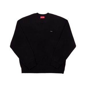 Supreme Black Polartec Small Box Crew