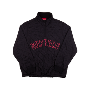 Supreme Black Quilted Half Zip