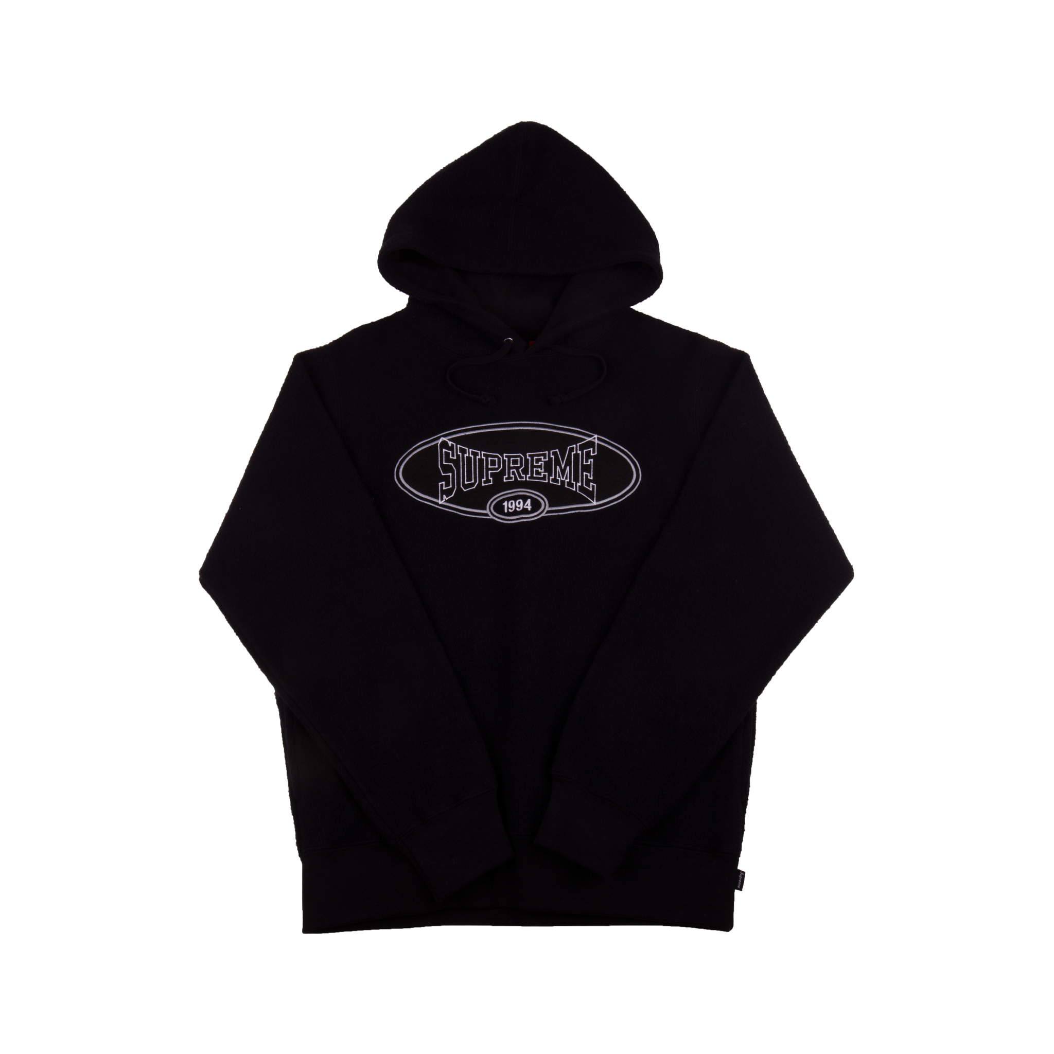 Supreme Black Reverse Fleece Hoodie