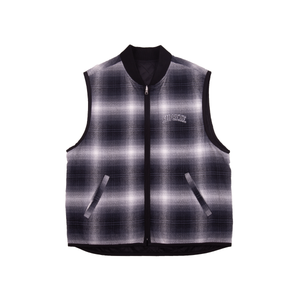 Supreme Black Reversible Plaid Vest