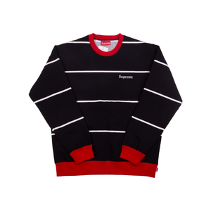 Supreme Black Striped Crew