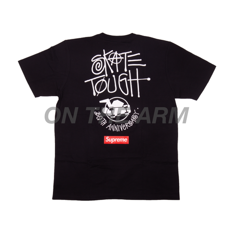 Supreme Black Stussy 30th Anniversary Tee
