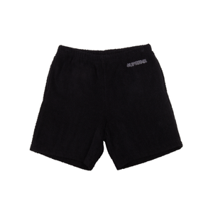 Supreme Black Terry Cloth Shorts