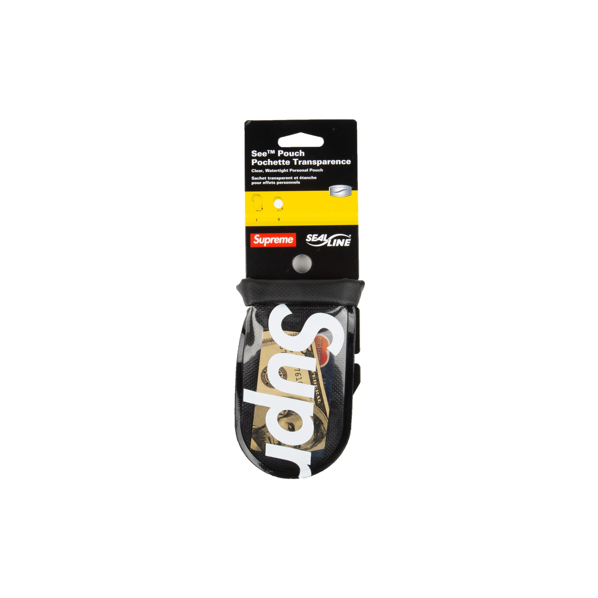 Supreme Black Sealine Pouch (Small)