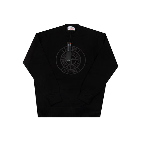 Supreme Black Stone Island 3M Compass Knit