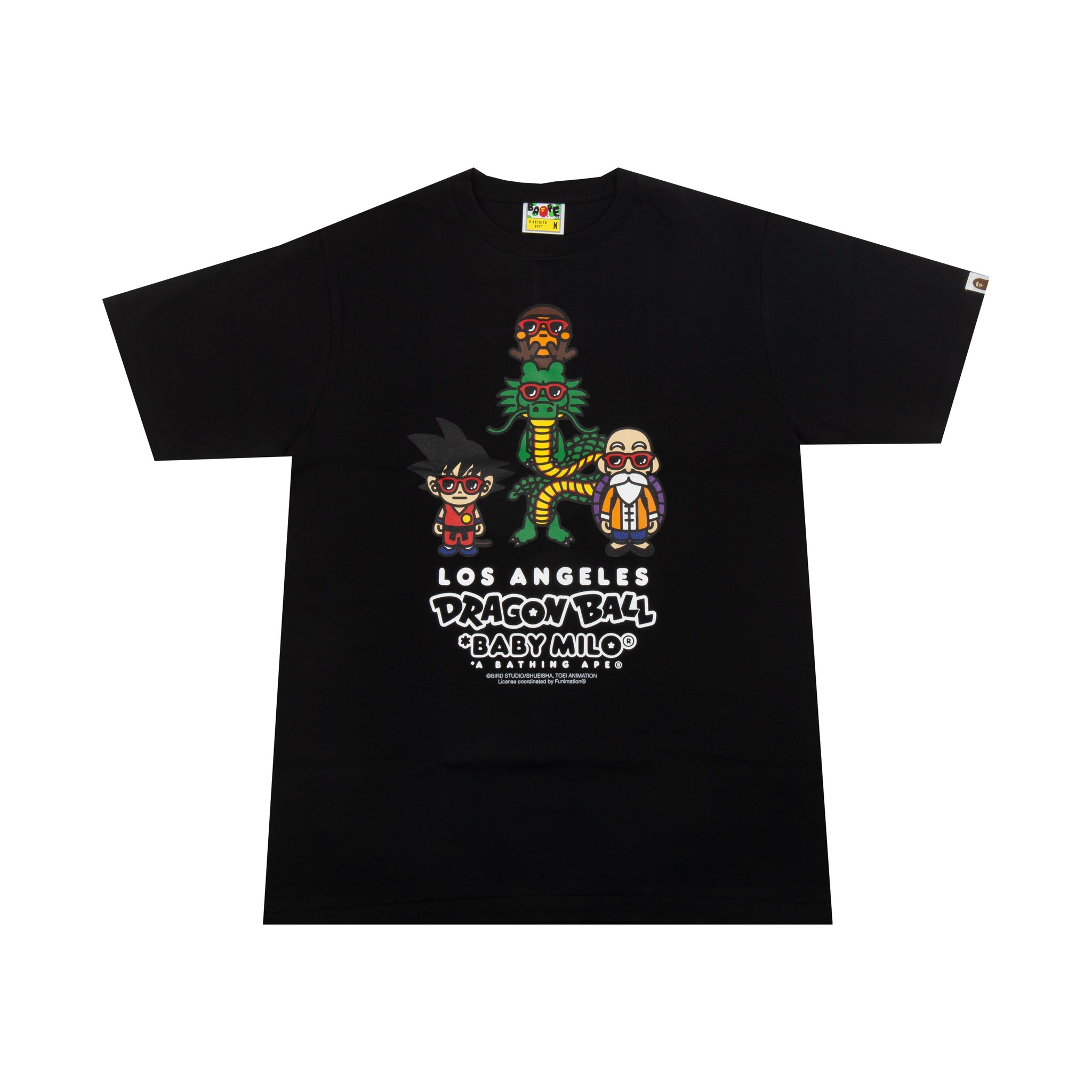 Bape Black Dragon Ball Baby Milo Tee