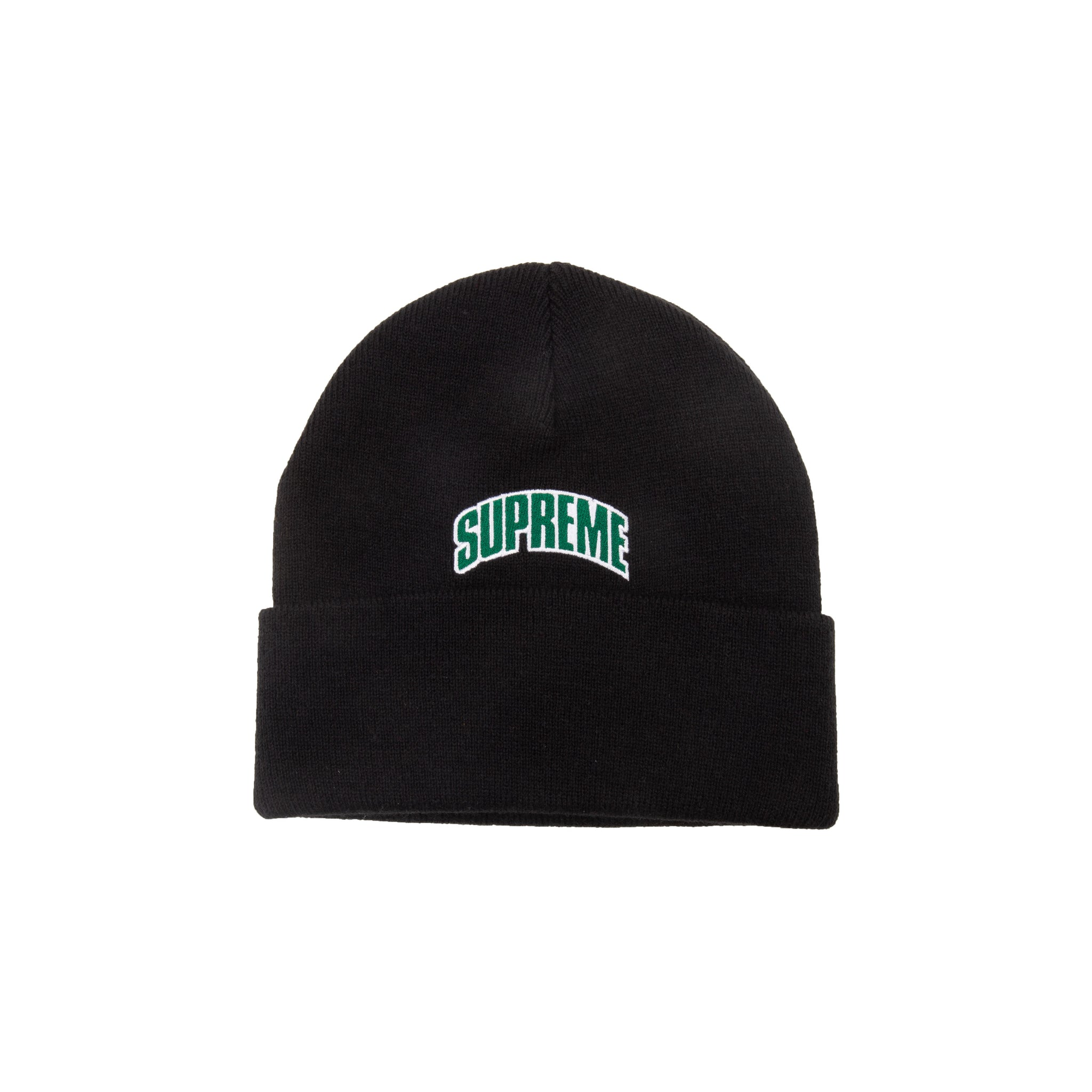 Supreme Black Crown Logo Beanie