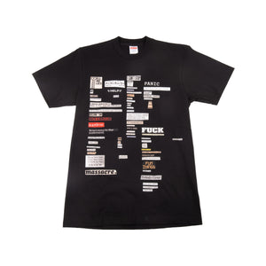 Supreme Black Cut Outs Tee