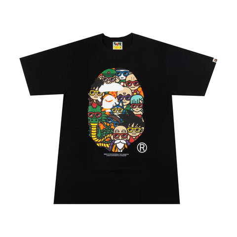 Bape Black Dragon Ball Apehead Tee