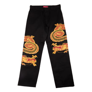 Supreme Black Dragon Work Pants