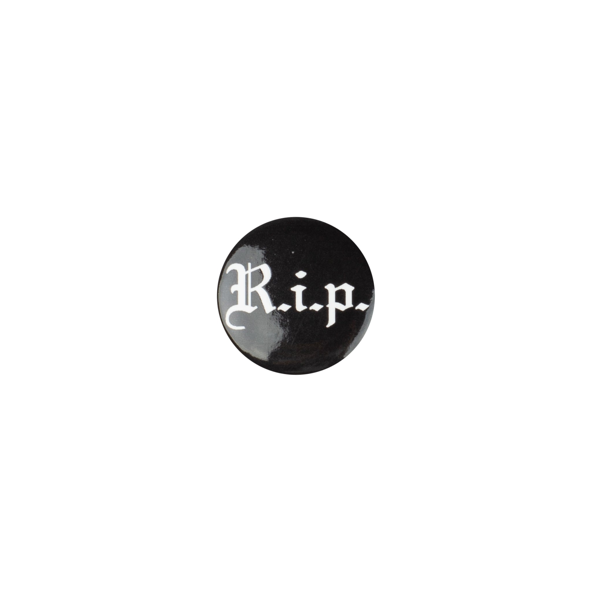Supreme Black RIP Pin