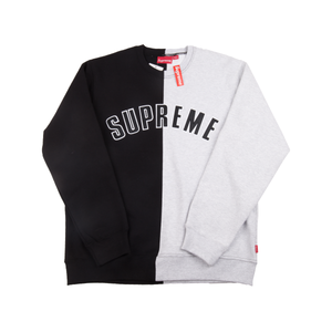 Supreme Black Split Crew