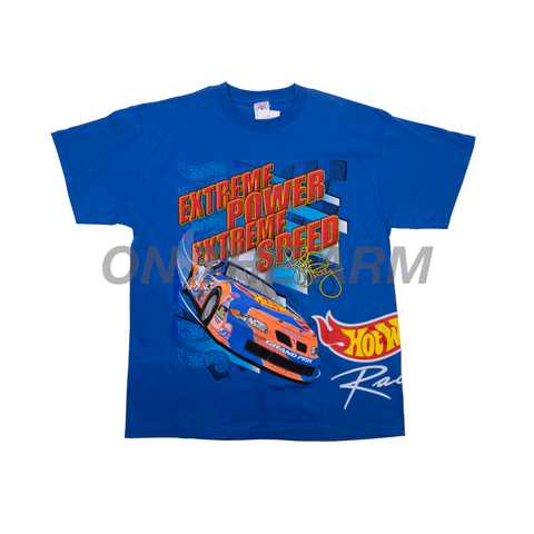 Vintage Blue NASCAR Hot Wheels Tee