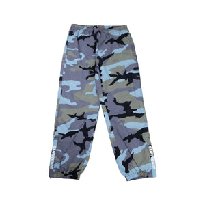 4f17caa4ef0a0 Supreme Blue Camo Warm Up Pants – On The Arm