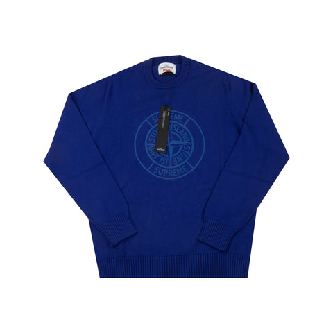 Supreme Blue Stone Island 3M Compass Knit