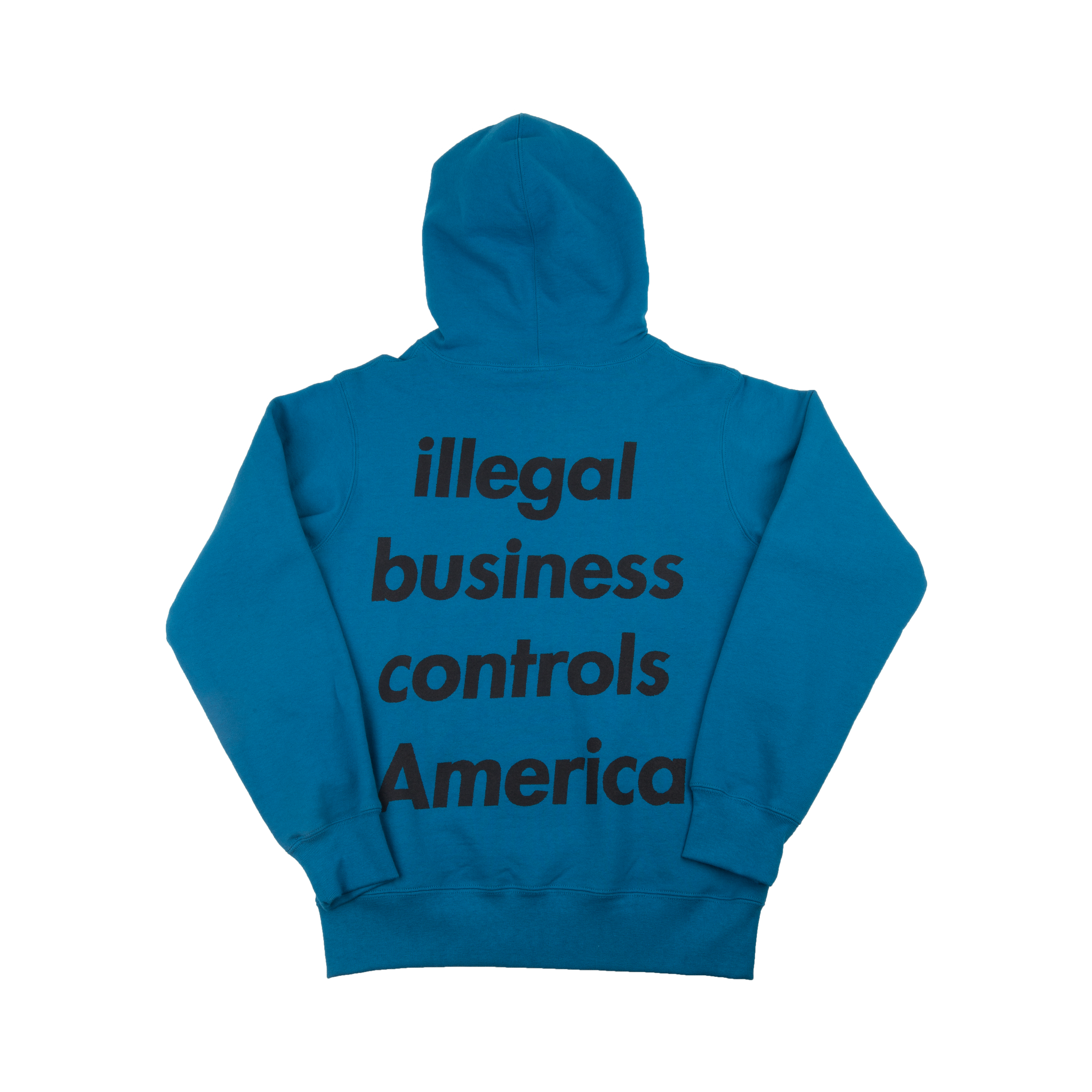Supreme Dark Royal Illegal Business Hoodie