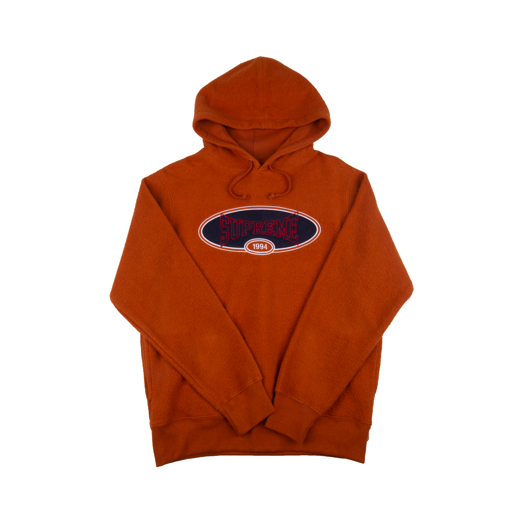 Supreme Brown Reverse Fleece Hoodie