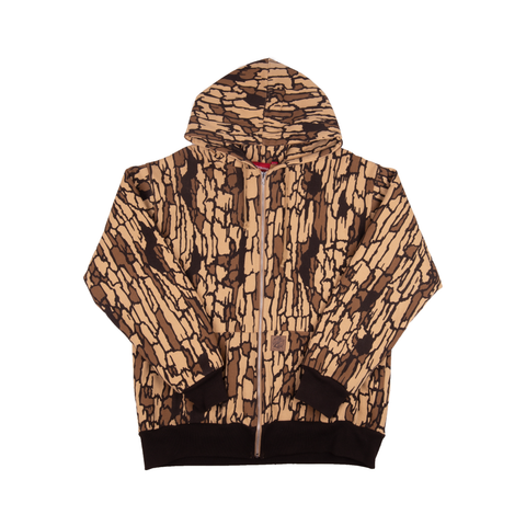 Supreme Brown Tree Bark Camo Zip Up Hoodie