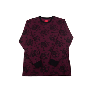 Supreme Burgandy Laced L/S