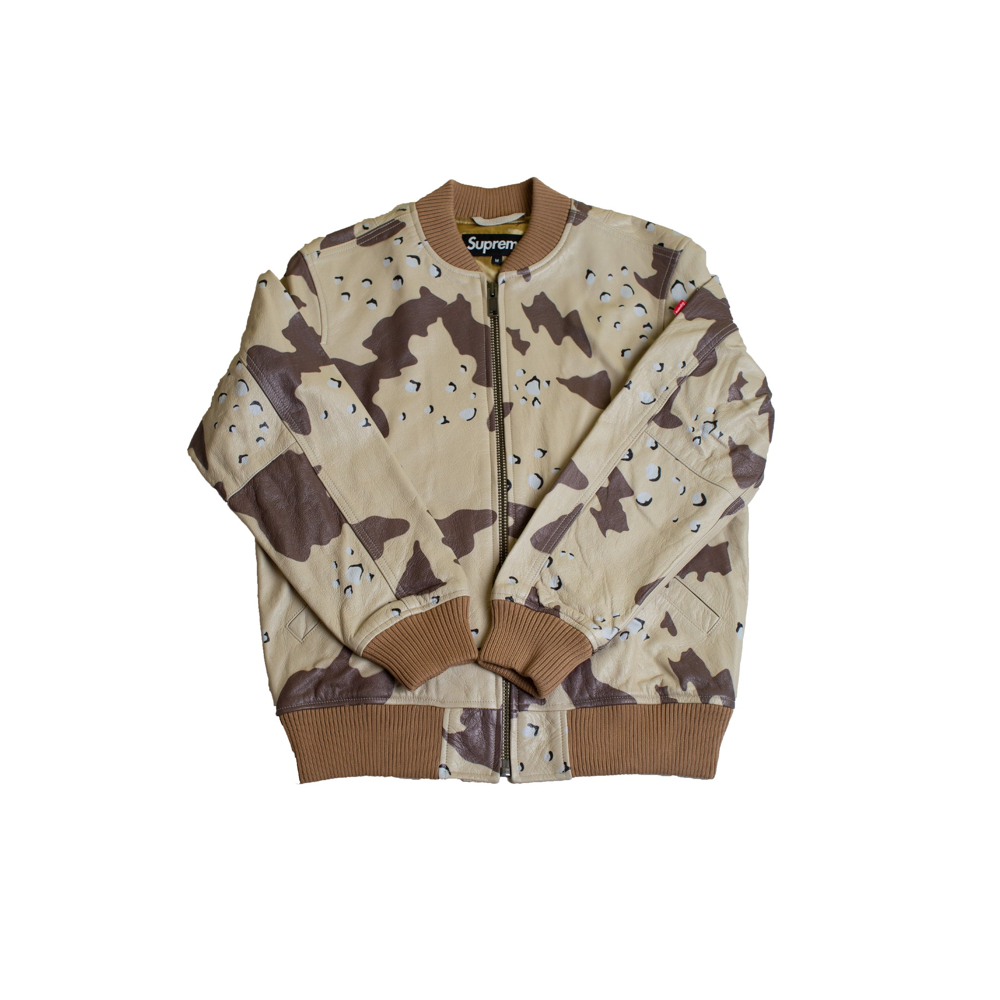 Supreme Desert Camo Leather MA-1 Jacket