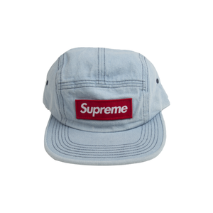 Supreme Denim Washed Chino Twill Camp Cap