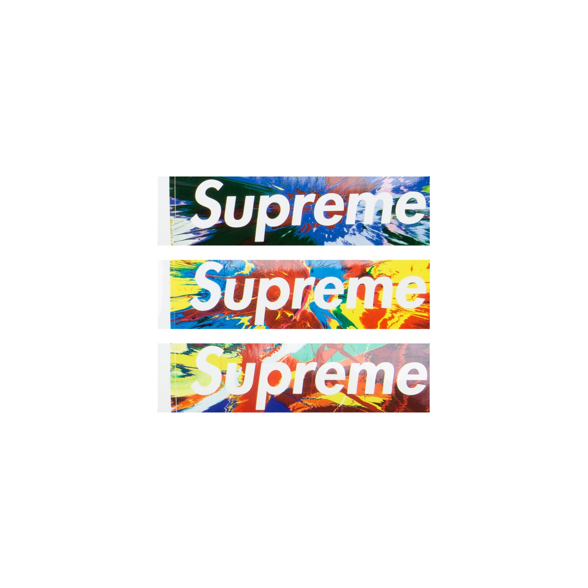 Supreme Damien Hirst Box Logo Stickers