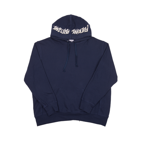 FuckingAwesome Navy Embroidered Hoodie