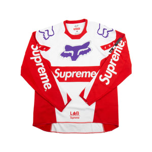 Supreme White Fox Moto Jersey