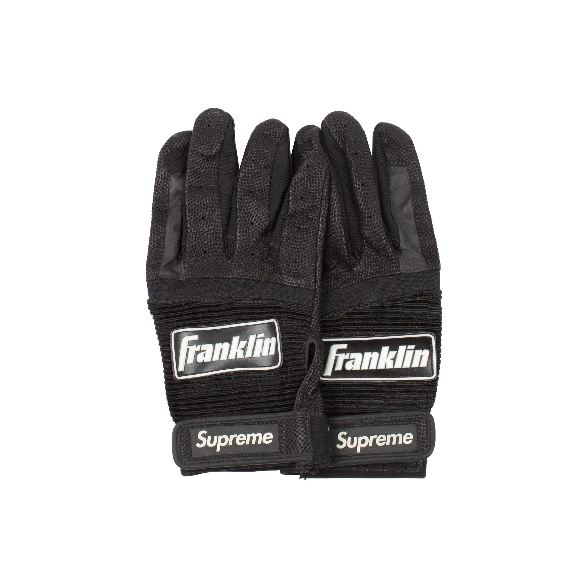 Supreme Black Franklin Batting Gloves