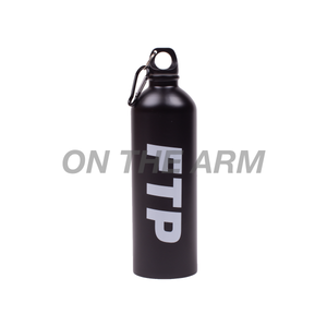 FTP Black Logo Water Bottle