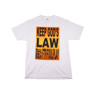 FTP White Foulplay God's Law Tee
