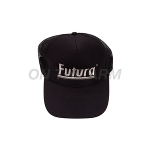 Futura Black Trucker Hat