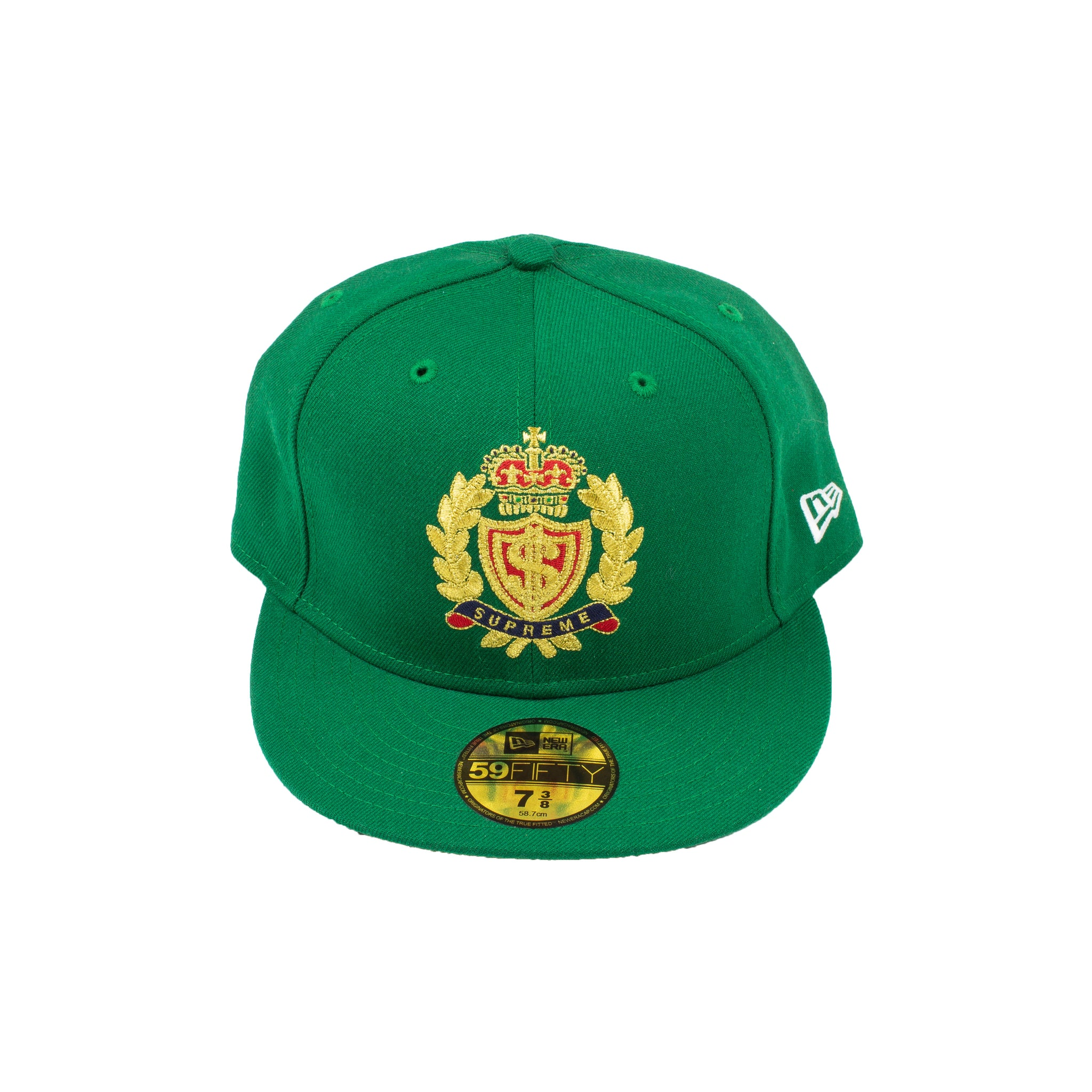 Supreme Green Crest New Era Fitted Hat