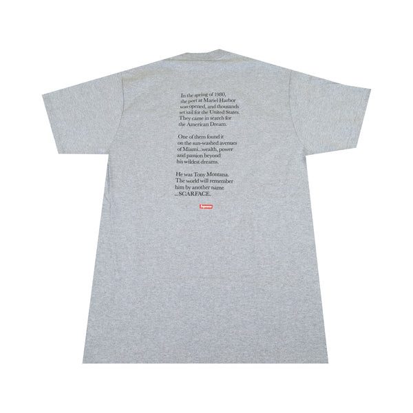 Supreme Grey Scarface Split Tee