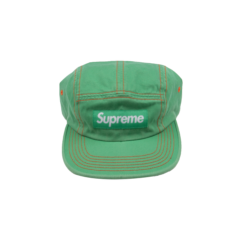 Supreme Kelly Green Contrast Stitch Camp Cap