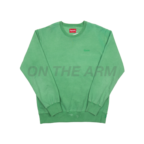 Supreme Green Overdyed Crew