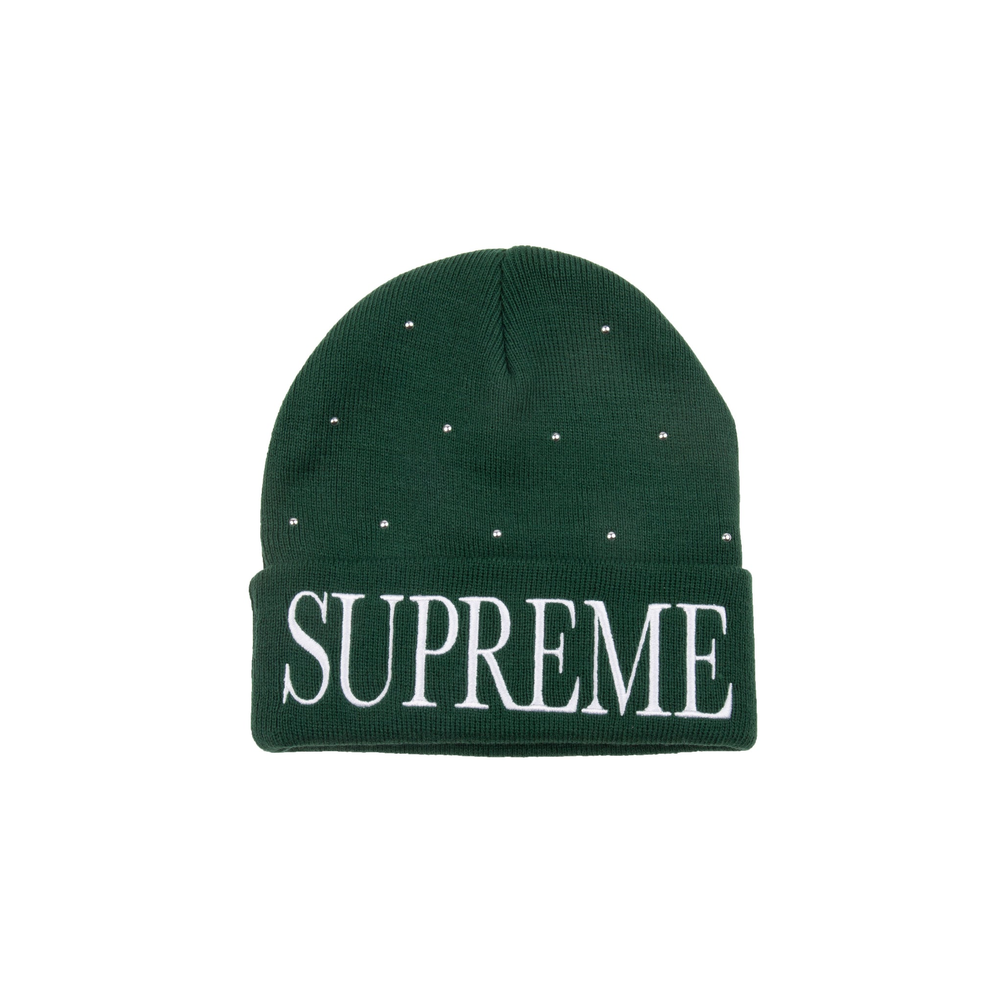 Supreme Dark Green Studded Beanie