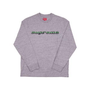 Supreme Grey Chrome Logo L/S