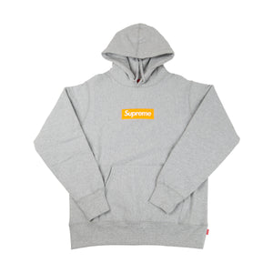 Supreme Grey / Orange Box Logo Hoodie