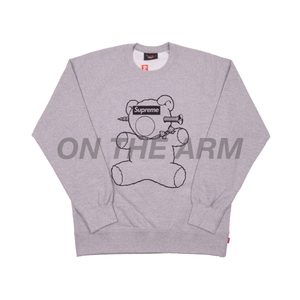 Supreme Grey Undercover Bear Crewneck