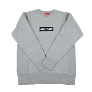 Supreme Grey / Navy Box Logo Crew
