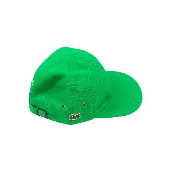 Supreme Green Lacoste Pique Camp Cap