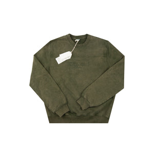 Guess Jeans Green Overdyed Crew