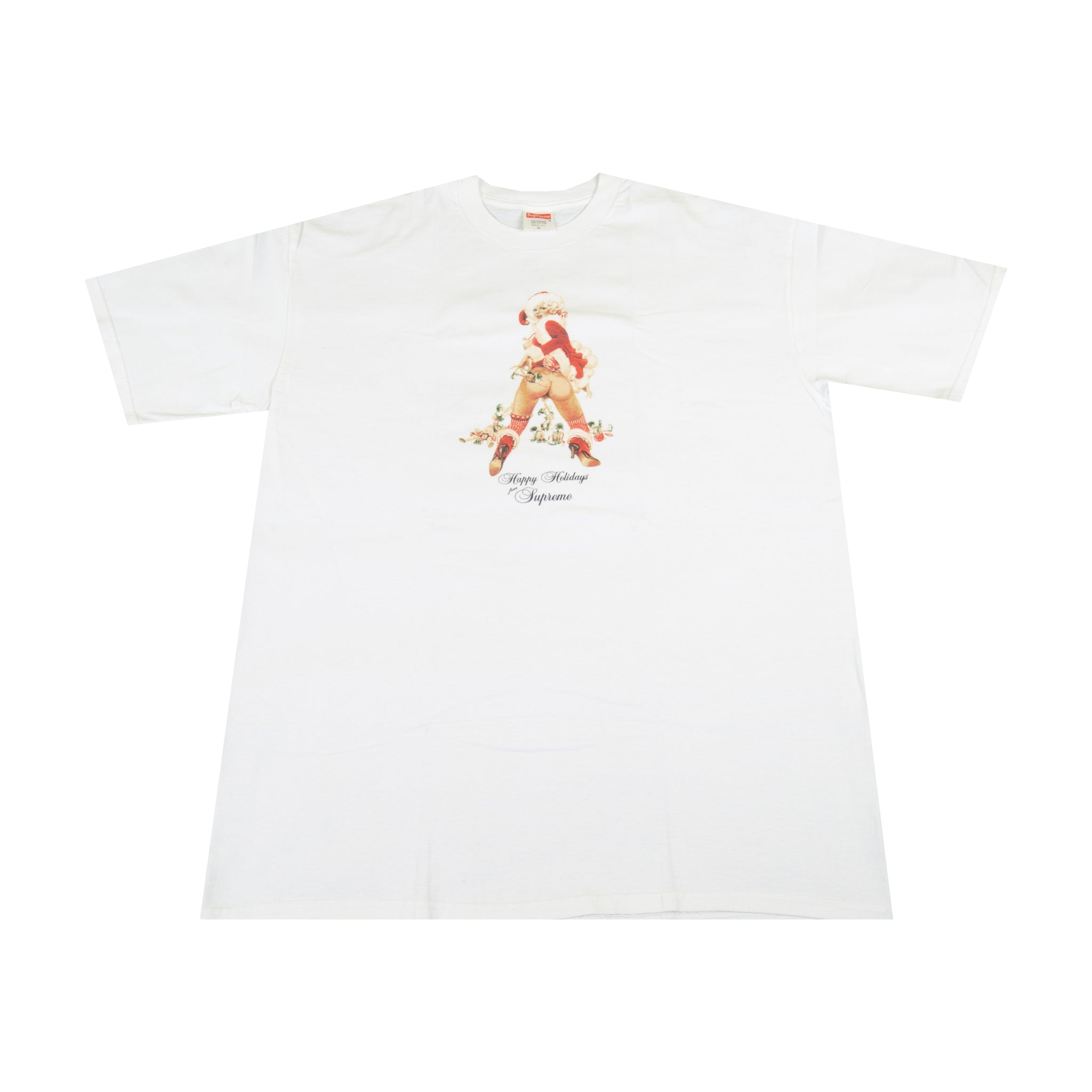 Supreme White Holiday Tee