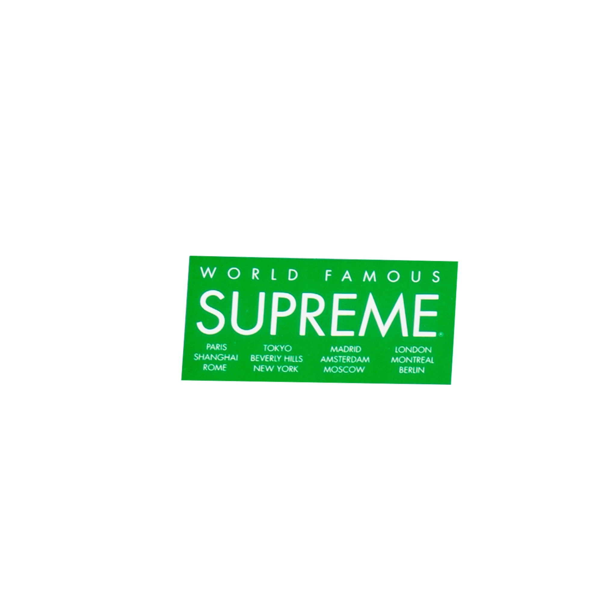 Supreme Green International Sticker
