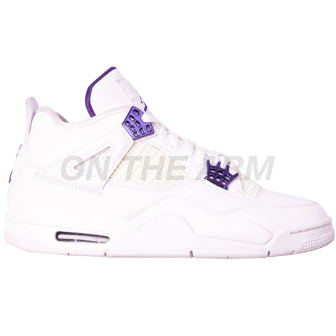 Nike Metallic Purple Air Jordan 4 USED