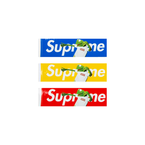 Supreme Kermit Box Logo Stickers