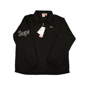 Supreme Black Lacoste Track Jacket
