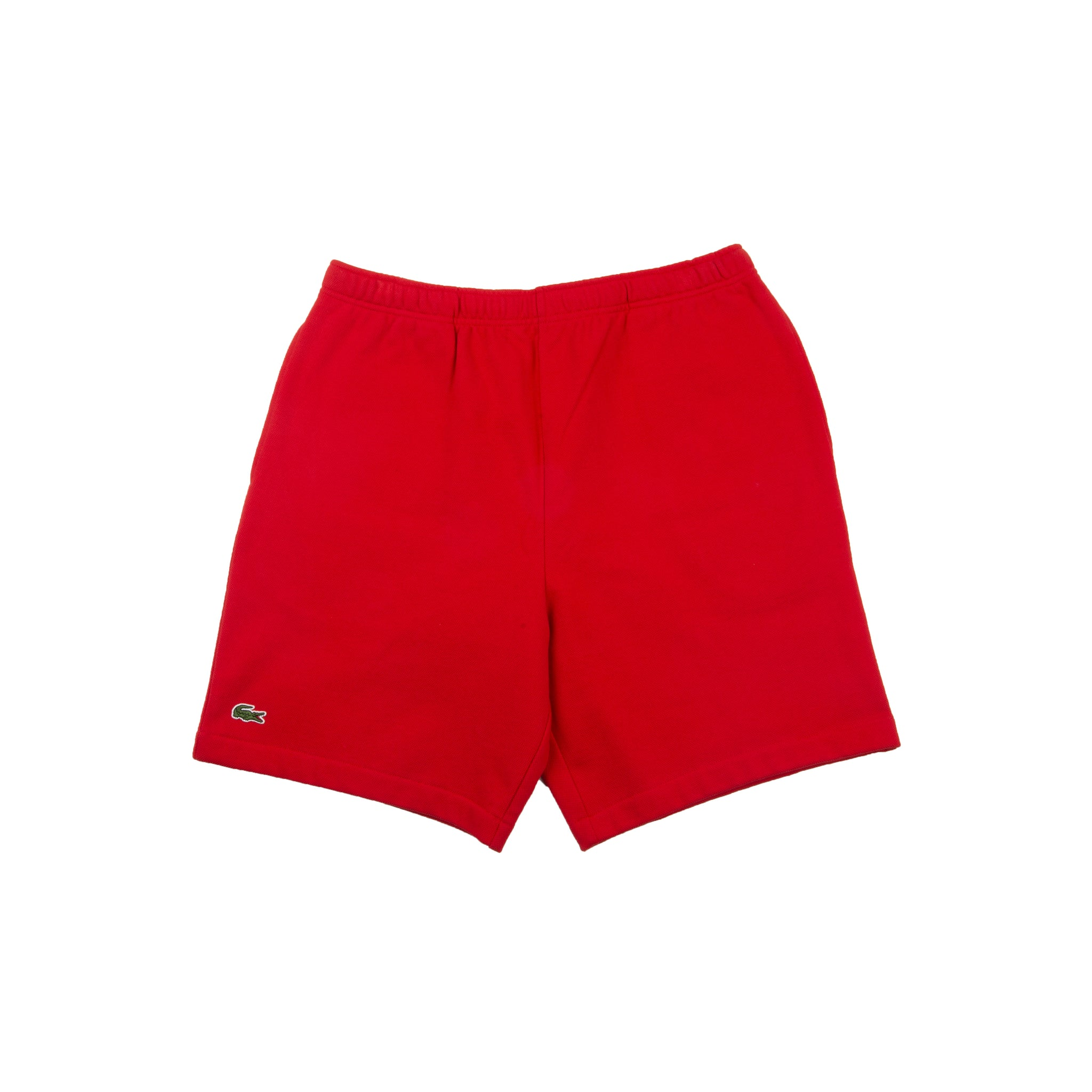 Supreme Red Lacoste Pique Shorts