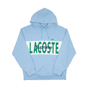 Supreme Light Blue Lacoste Hoodie
